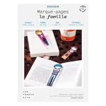 Kit papier Marque-pages la famille