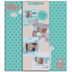 Kit de scrapbooking Scrapbox Naissance bleu