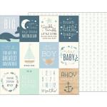 Night Night - Papier Ahoy Baby Boy! Cards