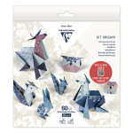 Kit origami Animaux 60 feuilles 3 formats