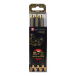 Feutre Pigma Pigma Black & Gold Edition Set de 3
