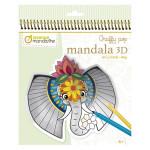 Coloriage Graffy Pop Mandala 3D Animaux de la savane